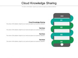 Cloud Knowledge Sharing Ppt Powerpoint Presentation Professional Clipart Images Cpb