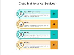 Cloud Maintenance Services Ppt Powerpoint Presentation Portfolio Clipart Images Cpb