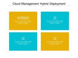 Cloud Management Hybrid Deployment Ppt Powerpoint Presentation Pictures Aids Cpb
