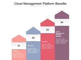 Cloud Management Platform Benefits Ppt Powerpoint Presentation Template Cpb