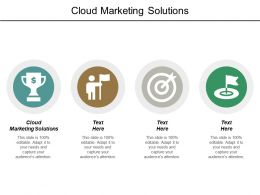 Cloud Marketing Solutions Ppt Powerpoint Presentation Outline Format Cpb