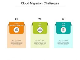 Cloud Migration Challenges Ppt Powerpoint Presentation Portfolio File Formats Cpb