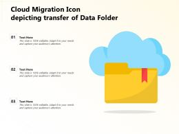 Cloud Migration Icon Depicting Transfer Of Data Folder