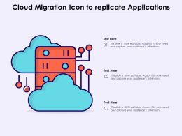 Cloud Migration Icon To Replicate Applications