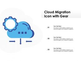 Cloud Migration Icon With Gear