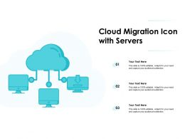 Cloud Migration Icon With Servers