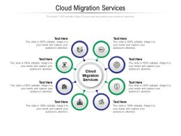 Cloud Migration Services Ppt Powerpoint Presentation Styles Outline Cpb