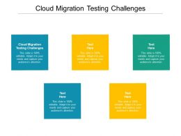Cloud Migration Testing Challenges Ppt Powerpoint Presentation Icon Deck Cpb