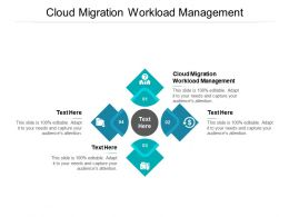 Cloud Migration Workload Management Ppt Powerpoint Presentation Pictures Model Cpb