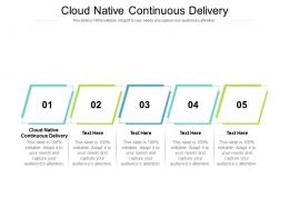 Cloud Native Continuous Delivery Ppt Powerpoint Presentation Model Good Cpb