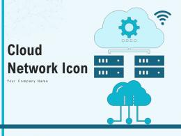 Cloud Network Icon Representing Internet Accessible Connection Servers