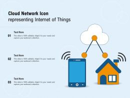 Cloud Network Icon Representing Internet Of Things