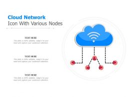 Cloud Network Icon With Various Nodes