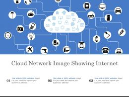 Cloud Network Image Showing Internet