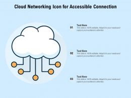 Cloud Networking Icon For Accessible Connection