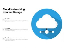 Cloud Networking Icon For Storage