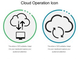 Cloud Operation Icon