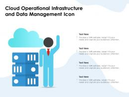 Cloud Operational Infrastructure And Data Management Icon
