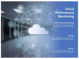 Cloud Performance Monitoring Ppt Powerpoint Presentation Styles Clipart Cpb