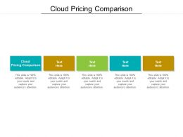 Cloud Pricing Comparison Ppt Powerpoint Presentation Layouts Background Images Cpb
