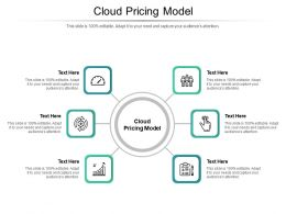 Cloud Pricing Model Ppt Powerpoint Presentation Model Outfit Cpb