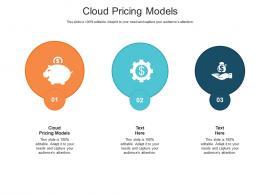 Cloud Pricing Models Ppt Powerpoint Presentation Portfolio Grid Cpb