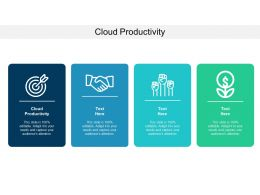 Cloud Productivity Ppt Powerpoint Presentation Slides Gallery Cpb