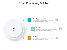 Cloud Purchasing Solution Ppt Powerpoint Presentation Icon Aids Cpb