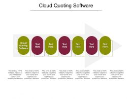 Cloud Quoting Software Ppt Powerpoint Presentation Slides Images Cpb