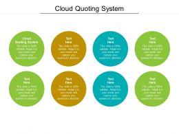 Cloud Quoting System Ppt Powerpoint Presentation Visual Aids Deck Cpb