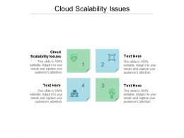 Cloud Scalability Issues Ppt Powerpoint Presentation Layouts Samples Cpb