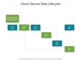 Cloud Secure Data Lifecycle Ppt Powerpoint Presentation Pictures Inspiration Cpb