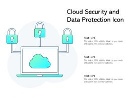 Cloud Security And Data Protection Icon