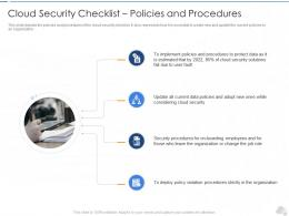 Cloud Security Checklist Policies And Procedures Cloud Security IT Ppt Tips