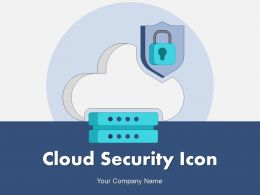 Cloud Security Icon Security Computing Data Protection Digital Access