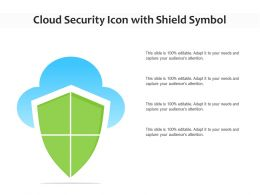 Cloud Security Icon With Shield Symbol