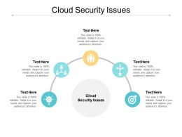 Cloud Security Issues Ppt Powerpoint Presentation Portfolio Outfit Cpb