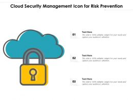 Cloud Security Management Icon For Risk Prevention