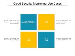 Cloud Security Monitoring Use Cases Ppt Powerpoint Presentation Slides Example Cpb