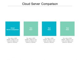Cloud Server Comparison Ppt Powerpoint Presentation Professional Graphic Tips Cpb