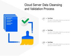 Cloud Server Data Cleansing And Validation Process