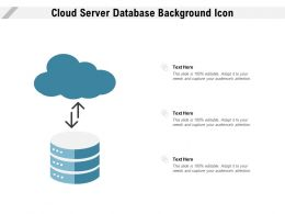 Cloud Server Database Background Icon