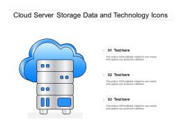 Cloud Server Storage Data And Technology Icons