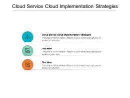 Cloud Service Cloud Implementation Strategies Ppt Powerpoint Presentation Icon Design Ideas Cpb