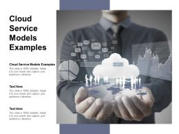 Cloud Service Models Examples Ppt Powerpoint Presentation Professional Themes Cpb