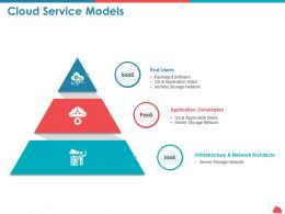 Cloud Service Models Storage Network Ppt Presentation Summary