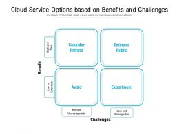 Cloud Service Options Based On Benefits And Challenges