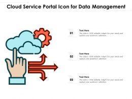 Cloud Service Portal Icon For Data Management