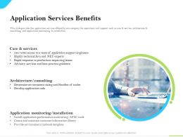 Cloud Service Providers Application Services Benefits Monitoring Installation Ppt Slides