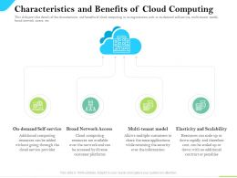 Cloud Service Providers Characteristics And Benefits Of Cloud Network Access Ppt Slides